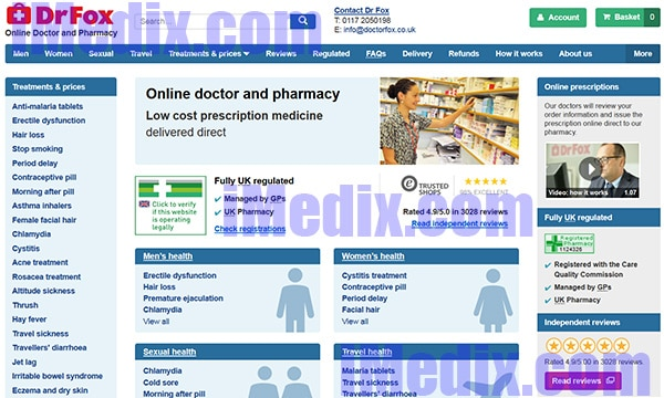 DoctorFox.co.uk screenshot