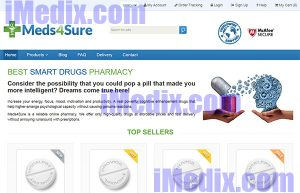 Meds4Sure.com screenshot