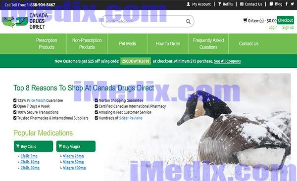 CanadaDrugsDirect.com screenshot
