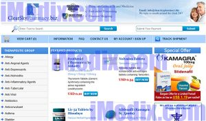 ClearSkyPharmacy.biz screenshot