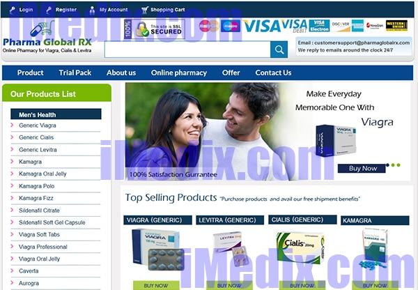 PharmaGlobalRx.com screenshot