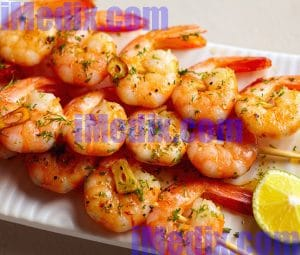 Cholesterol in shrimps
