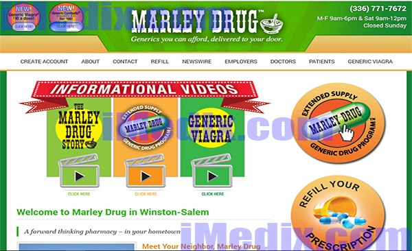 Marleydrug.com screenshot