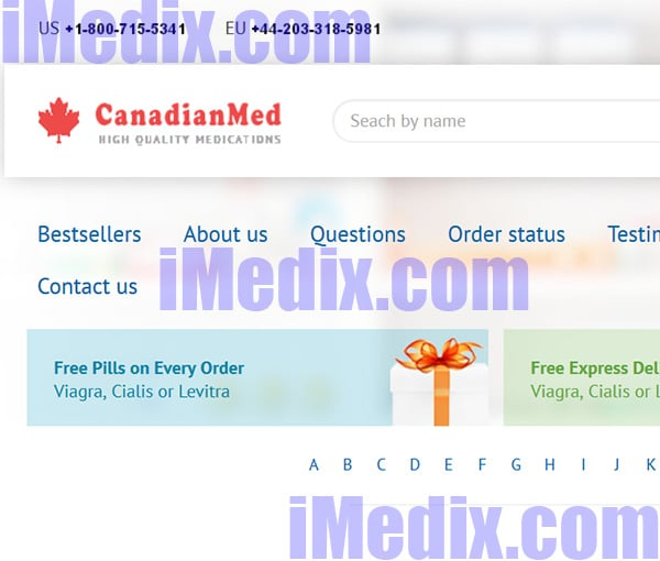 Canadianmed.net screenshot