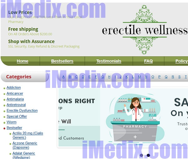 Erectilewellness.com screenshot